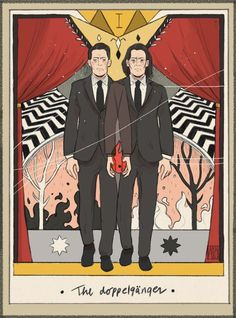 Welcome to Twin Peaks - The doppelgänger. Twin Peaks tarot card by Alba. Twin Peaks Return, Twin Peaks 2017, Twin Peaks Tv, David Lynch Movies, David Lynch Twin Peaks, Dc Anime, Between Two Worlds, Movies Showing, Tarot Cards