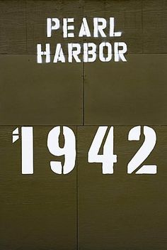 Close-up of a text and numbers written on a wall, Pearl Harbor, Honolulu, Oahu…