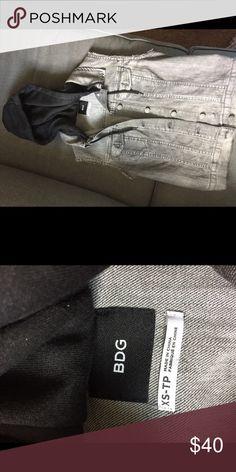 BDG denim vest w hoodie size XS NWOT BDG denim vest with hoodie size XS BDG Other