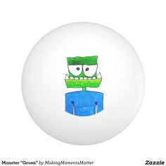 "Monster ""Groen"" Ping-Pong Ball"