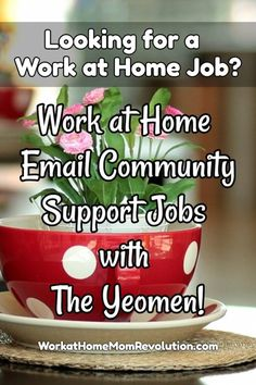 The Yeomen is seeking work at home email community support. Specifically, they are seeking home-based community support team leads.  Competitive salary.  In this work from home role, you can work from anywhere with Internet. Awesome home-based opportunity. You can make money from home!