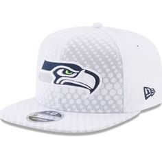 For Bro  New Era Seattle Seahawks White 2017 Color Rush Kickoff 9FIFTY  Snapback Adjustable Hat da9d5e628fb