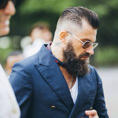 A small dose of pattern can add a lot of panache to a casual look. So can a beard and a tattoo.