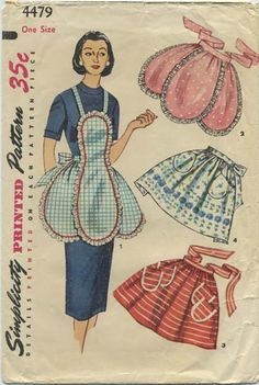 Vintage Apron Sewing Pattern | Simplicity 4479 | Year 1953 | One Size