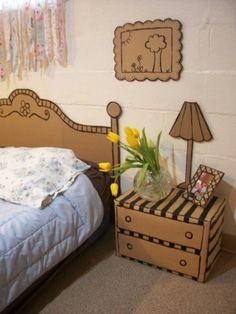 Cardboard Décor Ideas for a Kids Room or a Kids Party Cardboard