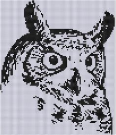 Owl Cross Stitch Pattern by MotherBeeDesigns on Etsy