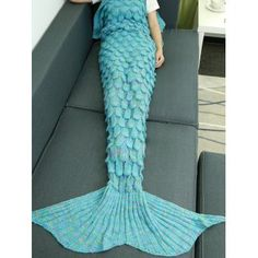 SHARE & Get it FREE | Comfortable Hollow Out Design Knitted Mermaid Tail BlanketFor Fashion Lovers only:80,000+ Items·FREE SHIPPING Join Dresslily: Get YOUR $50 NOW!