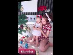 Tin Showbiz mới nhất - Mẹ con ,Elly Trần, thích thú trang trí cây thông ...