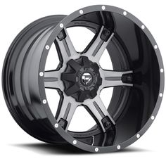 D257 - Driller Black & Machined, Dark Tint Clear - Fuel Off-Road Wheels