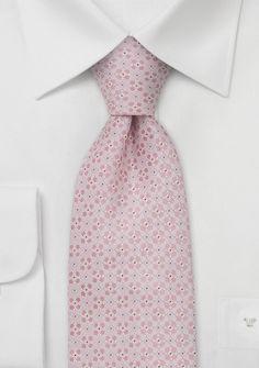 Designer necktiesHandmade silk tie in light pink