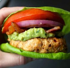 Chipotle Turkey Burgers With Guacamole | 29 Fresh And Delicious Lettuce Wrap Ideas