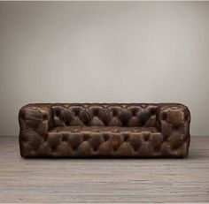 Soho Tufted Leather Sofas - but in Slate - at Upcycled Furniture, Sofa Furniture, Modern Furniture, Furniture Design, Chesterfield Furniture, Furniture Cleaning, Leather Furniture, Tufted Leather Sofa, Leather Chairs