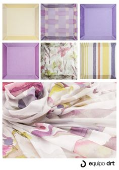 Purple ang green...We love this colours for fabrics!