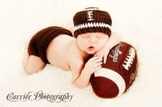 Football Hat ,baby hat, diaper cover set ,Size newborn 0-3 , 3-6, 6-12 12 -24 months classic or pick team colors on Etsy, $29.99