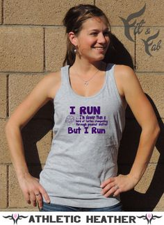 Funny Workout I Run I'm Slower Than a Turtle.. by FitnFabApparel, $20.95