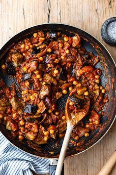 Vegan Roasted Aubergine & Chickpea Curry - Cupful of Kale