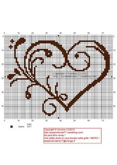 jpg-do in reds or pinks! Cross Stitch Boards, Cross Stitch Heart, Cross Stitch Flowers, Counted Cross Stitch Patterns, Cross Stitch Designs, Blackwork Embroidery, Cross Stitch Embroidery, Cross Stitch Silhouette, Wedding Cross Stitch