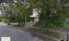 The Marshall Mathers LP by Eminem overlaid onto Google Street View image