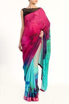 Digital Colour Blend Saree - What's New