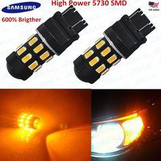 JDM ASTAR Newest 3157 3156 Amber High Power 5730 SMD Turn Signal LED Light Bulbs #JDMASTAR5730SMD6thbrighter56305th5050