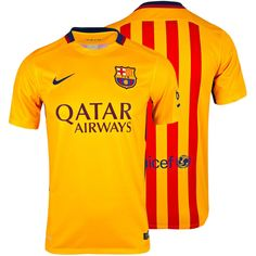 6cdeb4e5be4 NWT NIKE 2015 16 FC Barcelona Stadium Away Men s Soccer Jersey XL