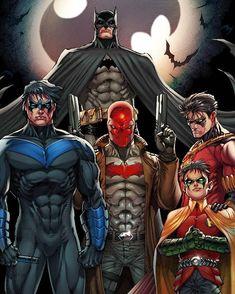 """17.2 tusind Synes godt om, 62 kommentarer – DC Comics (@dccomicsunited) på Instagram: """"BatFam by @metcalfjason"""""""