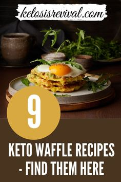 Waffles are the very best! The Keto diet does not exclude this popular delicacy. Ketosis Revival offers a variety of 9 Keto Waffle recipes to choose from. Each offers alternative flours as a substitute for wheat including almond and coconut flours. You will also enjoy the waffle dishes that incorporate full-fat cream cheese. Yum! Enjoy preparing these easy to follow keto-friendly waffles then sit down and bon appetit! Download the recipes... #ketowaffles #healthywaffles #wafflerecipes