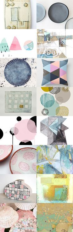 Geometricity  an Etsy Treasury curated by Andrea Clement on Etsy--Pinned with TreasuryPin.com Please click and follow the link to see each individual artist's details, thanks.