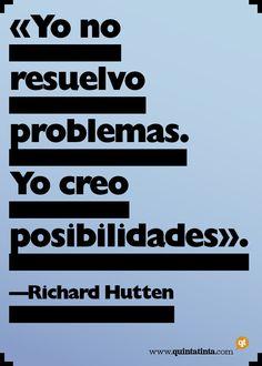 Una cita del diseñador holandés Richard Hutten, compuesta en Gill Sans Extra Bold Display