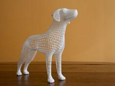 Wireframe dog by cinemo}