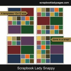 Katie the Scrapbook Lady has a brand new set of templates this week to help you get your digital scrapbooking done in a snap! Quickly fill e...