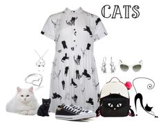 """Cats"" by freida-adams ❤ liked on Polyvore featuring Lazy Oaf, Betsey Johnson, Bling Jewelry, Dolce&Gabbana, Converse and Jordan Askill"