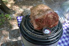 Fully seasoned and ready to start the 4 hour cook. Cobb Grills available here: http://cobbchef.ecwid.com/