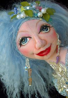 """Crystal, Mermaid of the Lake 21"""" Cloth Doll Pattern CD By Caroline Erbsland  Ask a Question $20.00"""