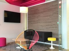 Office Flooring: Luxury Vinyl on Walls from Parterre Flooring. View our extensive collection of professional grade vinyl flooring today! Vinyl Flooring Installation, Luxury Vinyl Flooring, Home Appliances, Chair, Wall, Furniture, Design, Home Decor, House Appliances