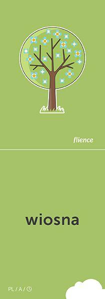 Wiosna #CardFly #flience #time #polish #education #flashcard #language