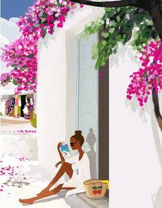A beachy Life ... !!!!!@@@@@¡¡¡¡¡.....http://www.pinterest.com/lilacraindrops/fashion-illustrations/