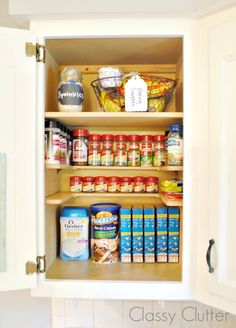 """FREE Measurement Conversion Chart Printable and the best invention ever! - Spices stored on shelf called """"The Spicy Shelf"""""""