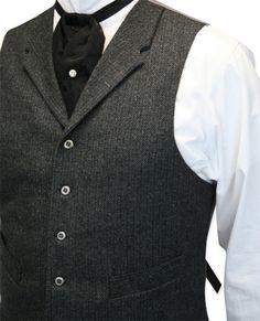 mens Burford Vest - Gray Wool Tweed @ Western Emporium $68