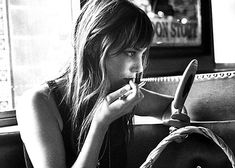 Jane Birkin. I love how natural she looks in her old photos