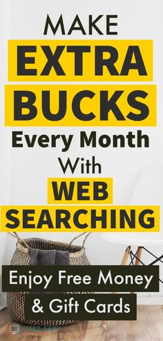 Get Paid for Searching the Web - Here are 10 places from where you can earn extra money online every month just for doing web searching in a search engine. Earn Money Fast, Make Money Now, Ways To Earn Money, Earn Money Online, Online Jobs, Money Tips, Cash From Home, Work From Home Jobs, Make Money From Home