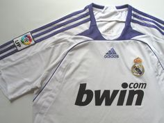 af07257398 Real Madrid 2007 2008 home football shirt by Adidas RMFC LosBlancos Spain  soccer camiseta jersey  realmadrid  madrid  madridista  halamadrid  spain   rmfc ...