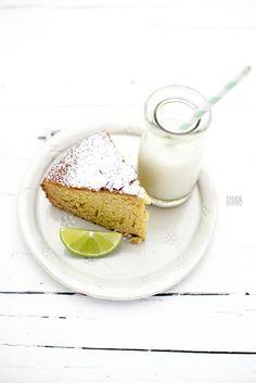 lime & crème fraiche cake