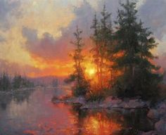 Sunset Poetry 24 inches x 30 inches Original oil on Canvas By artist Becky Joy…