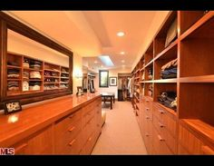 Matt Damon's clothes closet/room