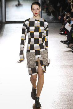 #AcneStudios #FW2015_16 #trends #crochet #extraLength #checkered #Catwalk #PFW #Paris