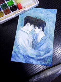 Kpop Fanart, 2moons The Series, 2 Moons, Ulzzang Couple, Cute Gay, Gay Couple, Drawing Reference, Traditional Art, Digital Art