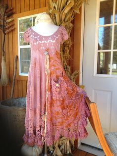 Luv Lucy Crochet Dress*** Lucy's Plum Pudding dress **Boho Gypsy dress