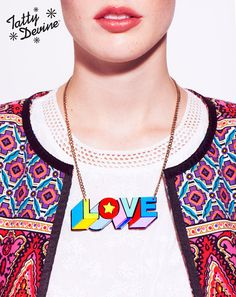 Want that necklace!  Tatty Devine Autumn/Winter 2013