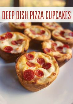 20-Minute Deep Dish Pizza Cupcakes are so easy and kid-friendly.
